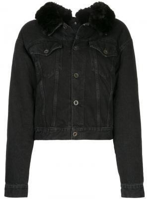 Укороченная джинсовая куртка Unravel Project. Цвет: чёрный
