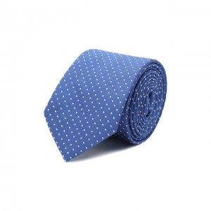 Шелковый галстук с узором Dal Lago. Цвет: синий