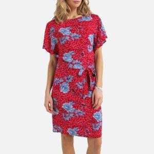 Платье-миди La Redoute. Цвет: красный