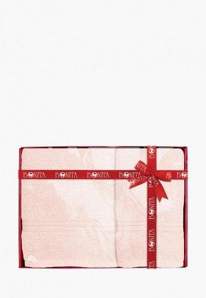 Набор полотенец Bonita. Цвет: розовый