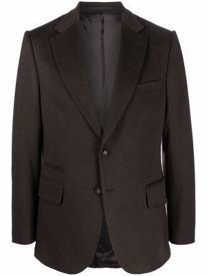 Пиджак прямого кроя Officine Generale. Цвет: коричневый