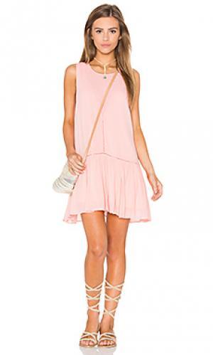 Платье blushing beach MINKPINK. Цвет: розовый
