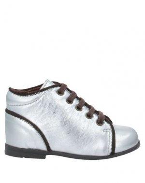 Полусапоги и высокие ботинки BISGAARD. Цвет: серебристый