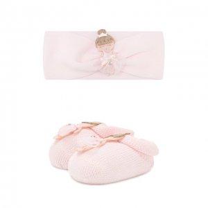Комплект из пинеток и повязки на голову La Perla. Цвет: розовый