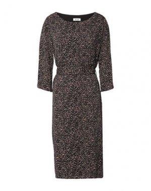 Платье миди DRY LAKE.. Цвет: темно-коричневый