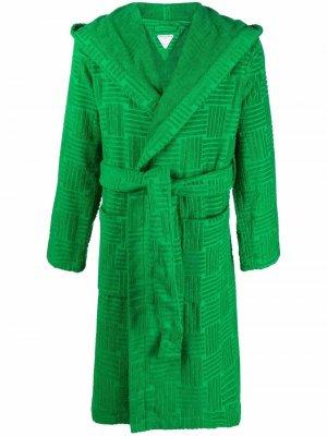 Фактурный халат Bottega Veneta. Цвет: зеленый