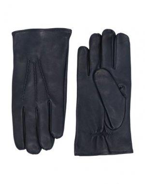 Перчатки ORCIANI. Цвет: темно-синий