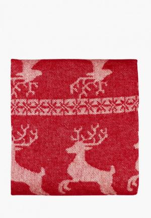 Плед Arloni Лапландия 140x200. Цвет: красный