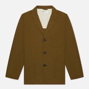 Мужской пиджак Three Button Ripstop Cotton Universal Works. Цвет: оливковый