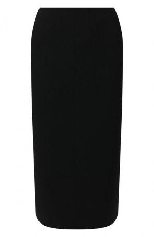 Юбка из смеси вискозы и шерсти N21. Цвет: чёрный