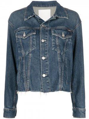 Джинсовая куртка Cut Drifter MOTHER. Цвет: синий