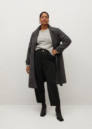 Прямые укороченные брюки - Kenia Mango. Цвет: черный