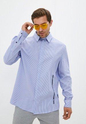 Рубашка Karl Lagerfeld. Цвет: голубой