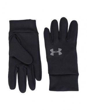 Перчатки UNDER ARMOUR. Цвет: черный