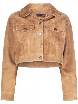 Укороченный пиджак оверсайз Giuseppe Zanotti. Цвет: нейтральные цвета