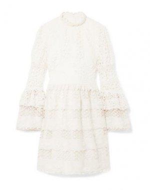 Короткое платье ANNA SUI. Цвет: слоновая кость