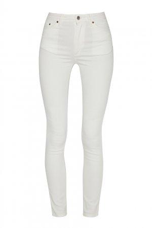 Белые джинсы скинни Blå Konst Peg Acne Studios. Цвет: белый