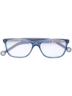 Очки в прямоугольной оправе Carolina Herrera. Цвет: синий