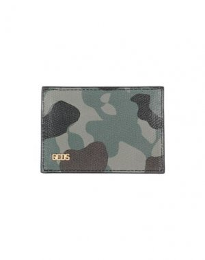 Чехол для документов GCDS. Цвет: зеленый-милитари