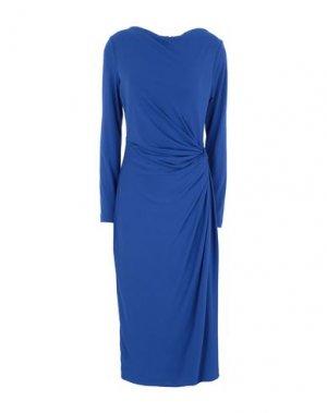 Платье миди DONNA KARAN. Цвет: ярко-синий