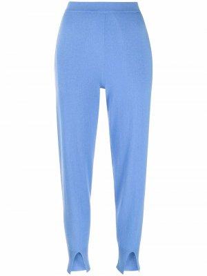 Slit-detail cashmere sweatpants Theory. Цвет: синий