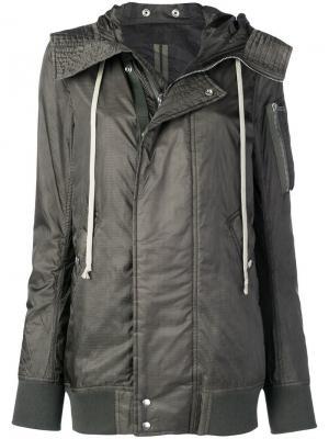 Куртка-бомбер с капюшоном Rick Owens DRKSHDW. Цвет: бежевый