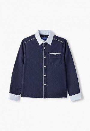Рубашка Smena. Цвет: синий