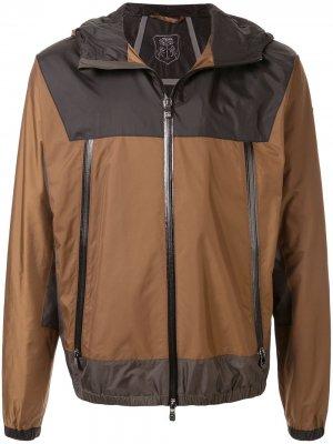 Куртка на молнии Corneliani. Цвет: коричневый