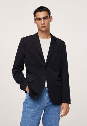 Пиджак Mango Man TURIN. Цвет: черный