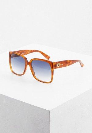 Очки солнцезащитные Max Mara MM FANCY I C9B. Цвет: коричневый