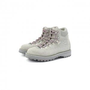 Замшевые ботинки Diemme. Цвет: серый
