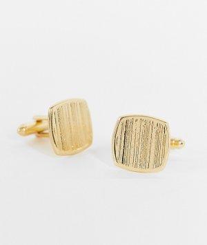 Золотистые запонки со скошенными углами -Золотистый ASOS DESIGN