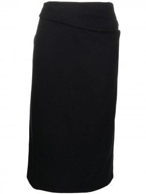 Драпированная юбка 1990-х годов Dries Van Noten Pre-Owned. Цвет: черный
