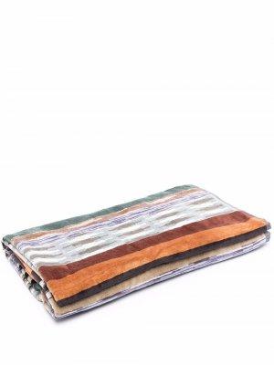 Пляжное полотенце в полоску Missoni Home. Цвет: коричневый