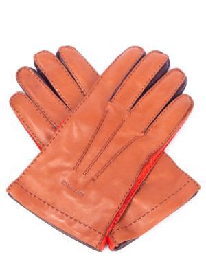 Кожаные перчатки ETRO. Цвет: разноцветный