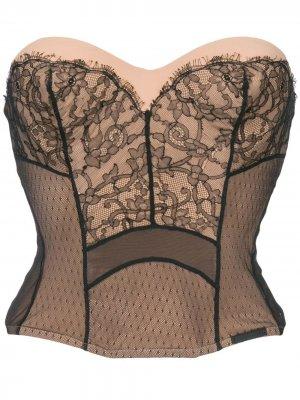 Кружевное бюстье без рукавов Christian Dior. Цвет: розовый