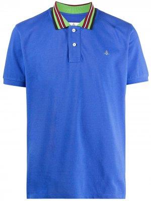 Рубашка поло с отделкой в полоску Vivienne Westwood. Цвет: синий