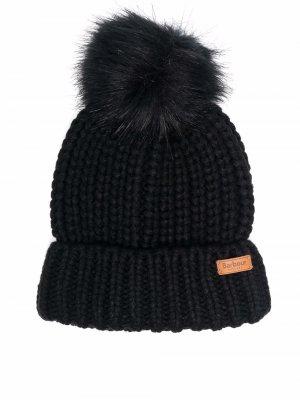 Saltburn chunky-knit beanie Barbour. Цвет: черный
