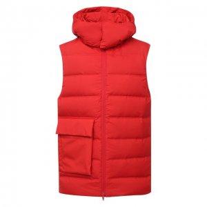 Пуховый жилет Y-3. Цвет: красный