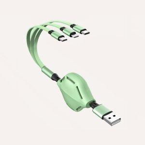 Телескопический кабель для передачи данных 3 в 1 SHEIN. Цвет: зелёные
