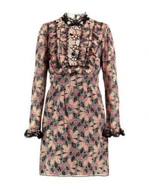 Короткое платье ANNA SUI. Цвет: песочный