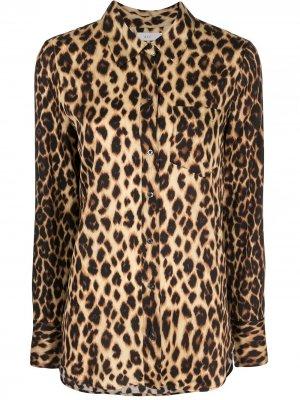 Рубашка Emerson с леопардовым принтом A.L.C.. Цвет: коричневый