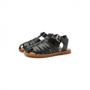 Кожаные сандалии Dolce & Gabbana. Цвет: синий