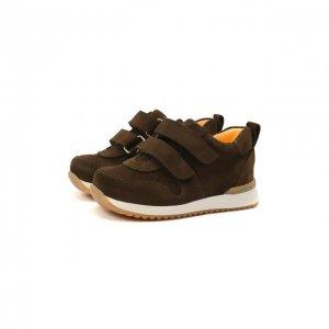 Кожаные кроссовки Angulus. Цвет: коричневый