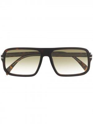 Солнцезащитные очки в квадратной оправе Eyewear by David Beckham. Цвет: зеленый