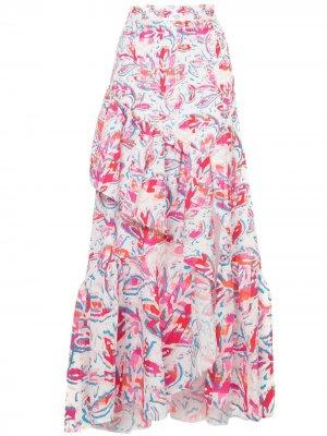Длинная юбка с принтом Peter Pilotto. Цвет: разноцветный