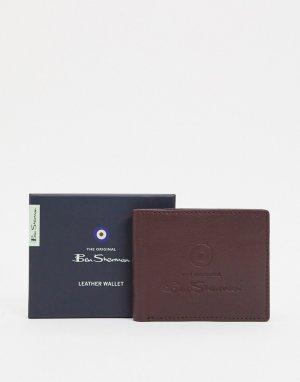 Кожаный кошелек для монет -Коричневый Ben Sherman