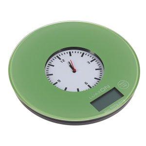 Весы кухонные luazon lvk-703, электронные, до 5 кг, встроенные часы, цвет Home