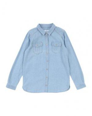 Pубашка LITTLE REMIX. Цвет: лазурный