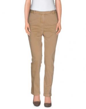 Повседневные брюки QCQC. Цвет: песочный